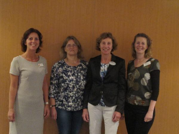 Regiobestuur Noord-Holland: v.l.n.r. Simone Bot, Antje de Boer, Christien van Velzen en Annemarie Breed (voorzitter)
